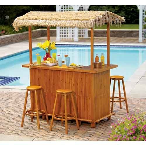 How to build your own tiki bar self help diy at home for Diy pool house plans