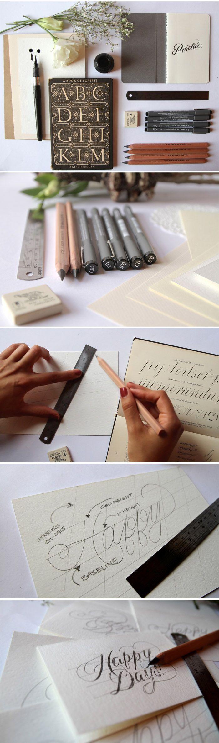 Diy Hand Lettering Typography Pinterest Lettering Tutorial