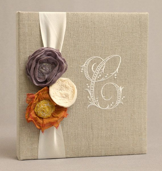Wedding Guest Book & Memory Album Linen