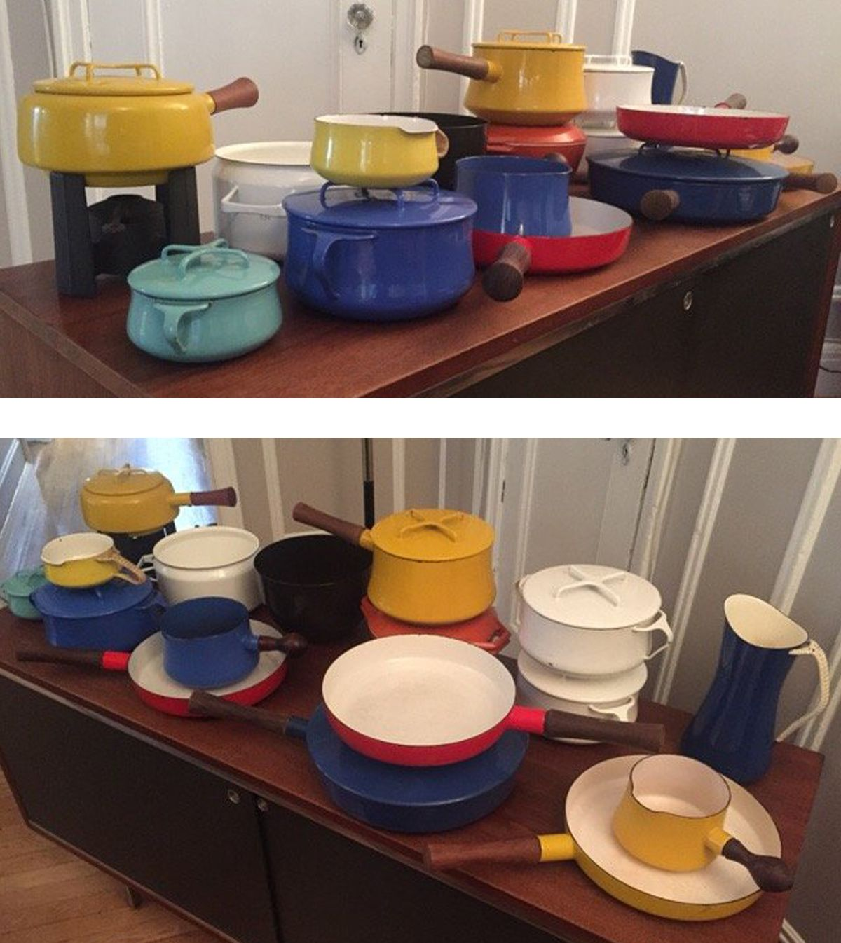 A vintage collection of Dansk cookware, ready to get to work in your kitchen.