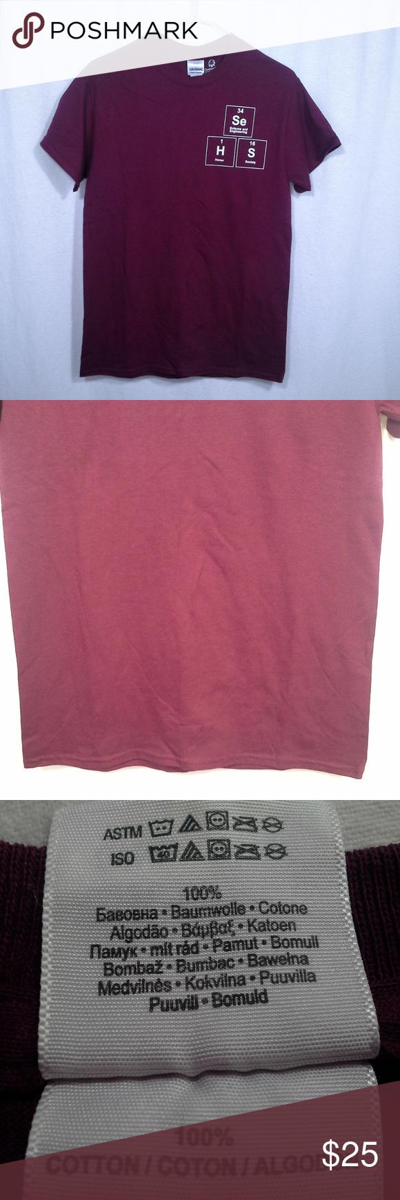 Gildan Custom Ink T Shirt Size Small Red Maroon Nwt My Posh Picks