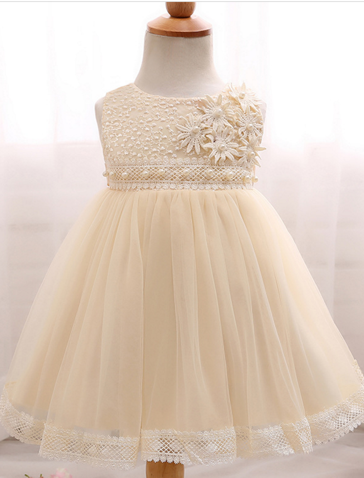 9f4f104d8 Year Baby Girl Dress Infant Party Dress For Baptism Christening ...