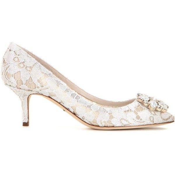 b62e9d9e72b Dolce   Gabbana Bellucci Embellished Lace Pumps ( 1