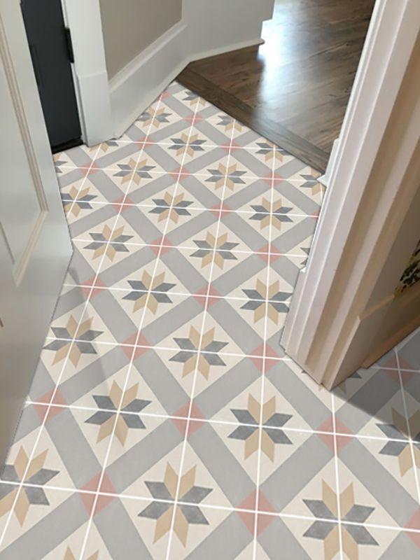 Clearance Vinyl Floor Tile Sticker Gustavian Nature Cabin