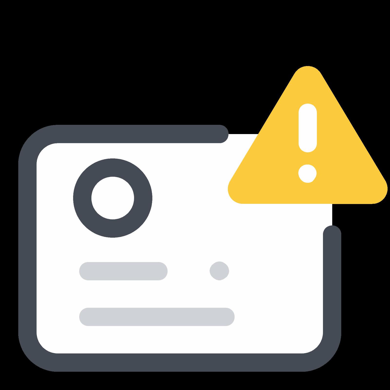 Identification Documents Error Icon Icons Graphicdesign Design Icon Documents Design