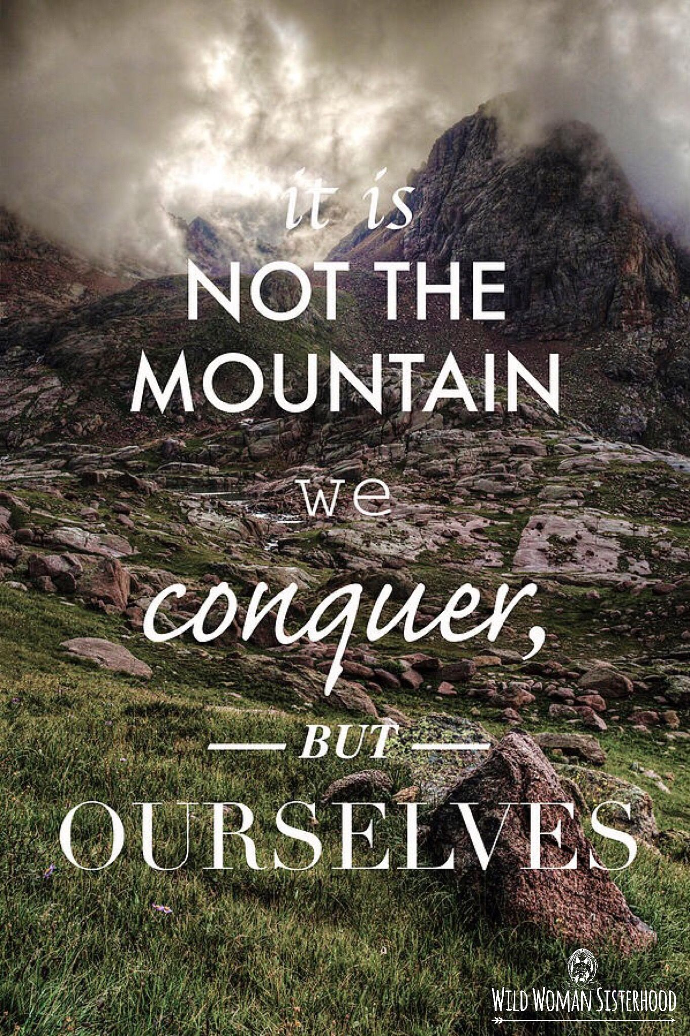It Is Not The Mountain We Conquer But Ourselves... ~ Edmund Hillary WILD