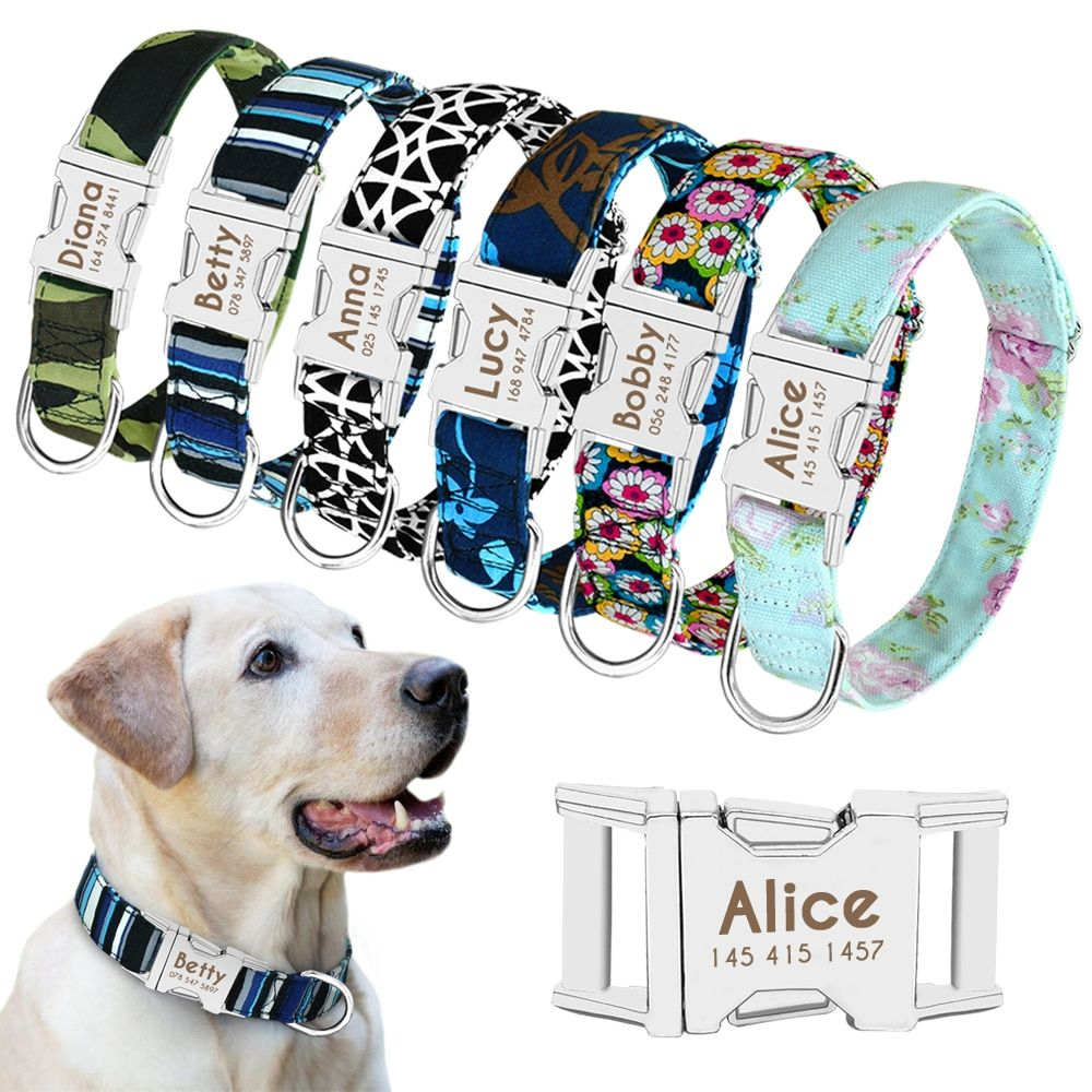 Dog Supplies Collars Emotional Support Therapy Dog Collar Personlized Pet Nameplate Free Engraved