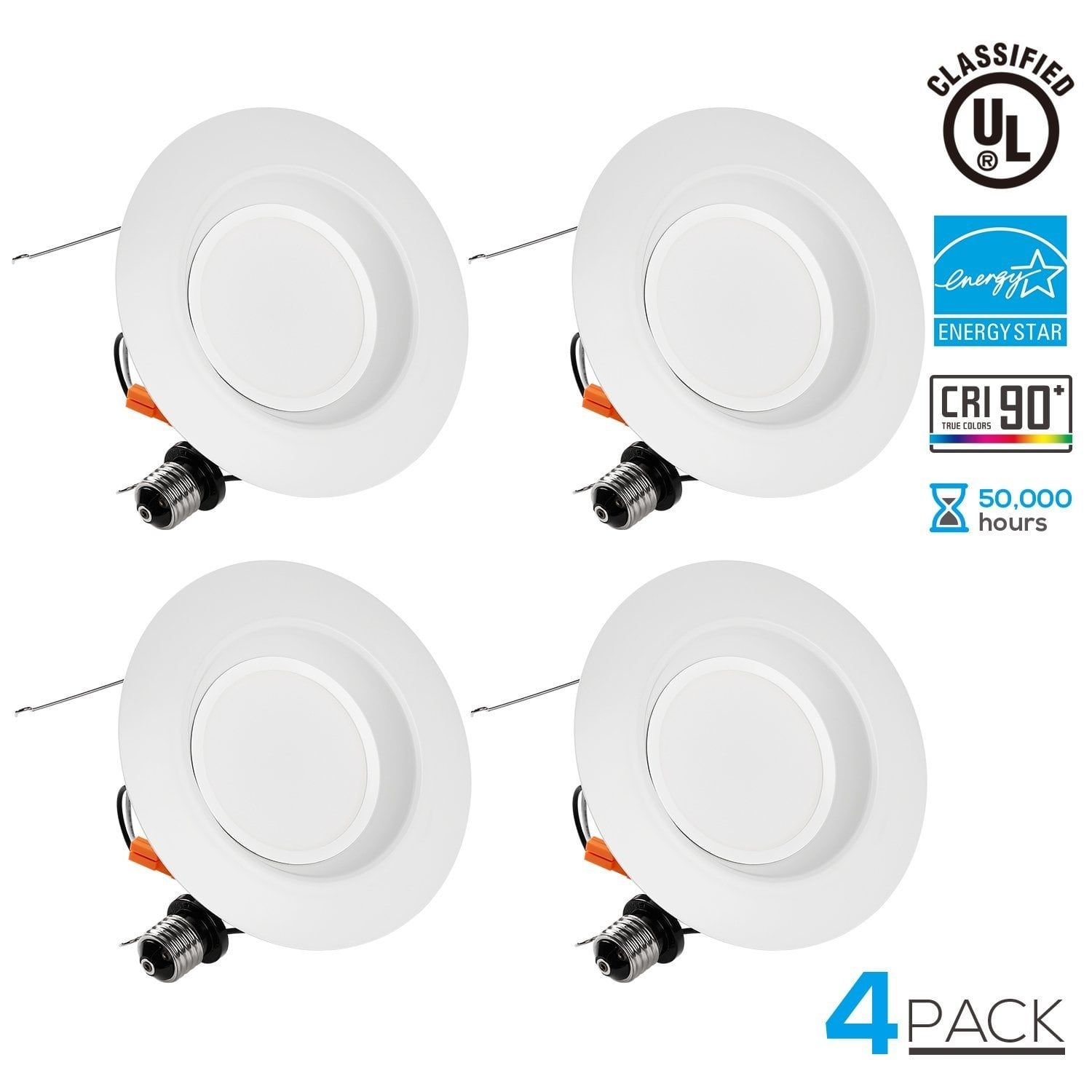 pack wet location inch dimmable retrofit led recessed