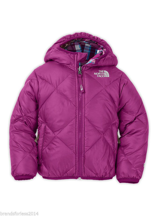 4143d983046a The North Face Girls Moondoggy Reversible Winter Jacket Size 7 8 ...