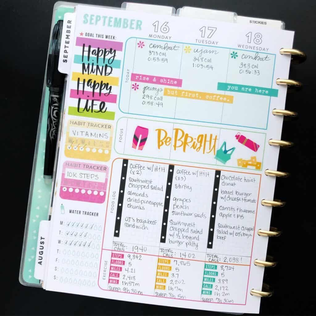 Using my Bullet journal for weight loss: Tracking, Planning and 71+ Examples | My Inner Creative -   fitness Planner mambi