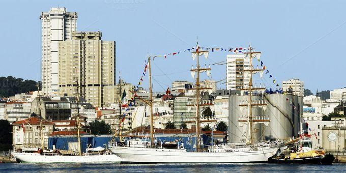 Tall Ships Races 2012 Coruna Port Ship Racing Tall Ships Racing