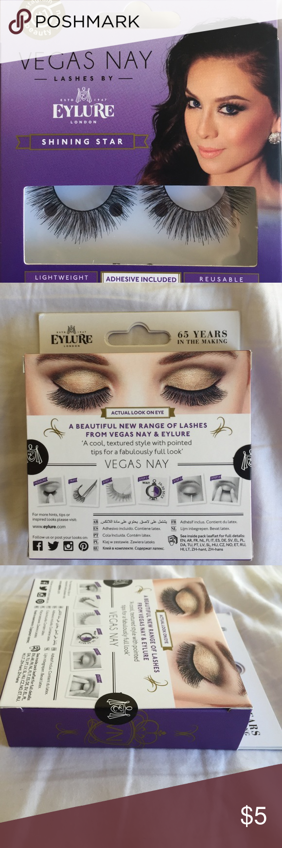 c390da4ab70 Vegas Nay Shining Star Lashes Shining Star is a cool, textured style with  pointed tips