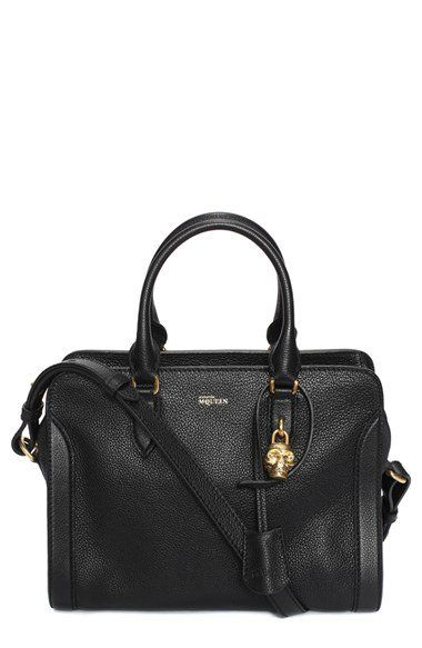 Alexander McQueen 'Small Padlock' Leather Duffel Bag | only $2141.31AUD (Oh, PLUS tax & shipping...)