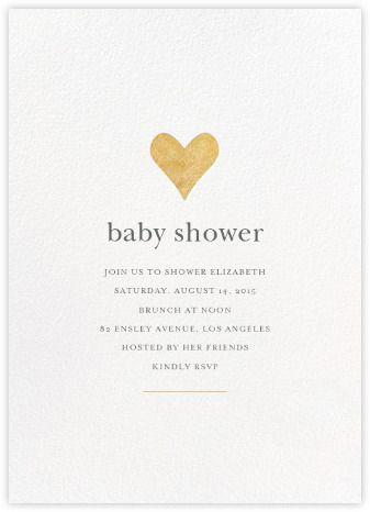 Luminous Heart Whitegold Paperless Post Baby Shower