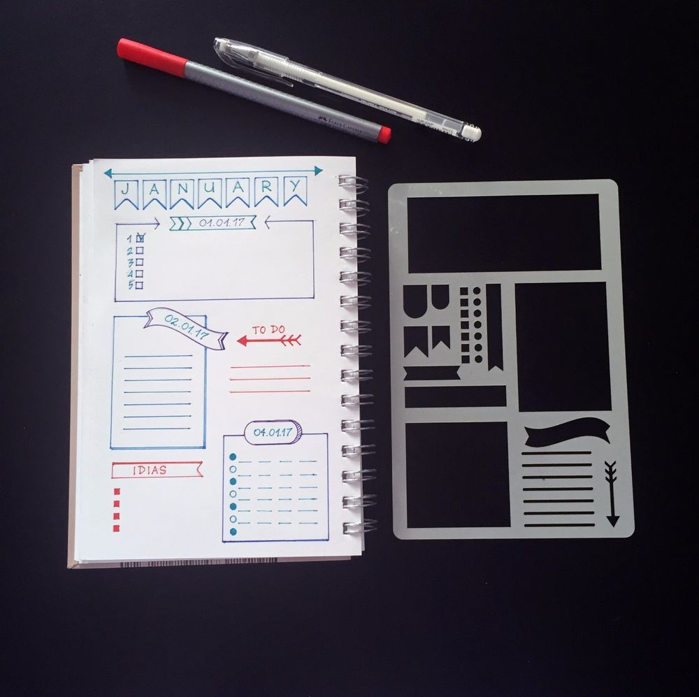 You Can Also Attach Your Stencil Inside Your Journal With Washi Tape Stencil This Bullet Journal Stencils Planner Bullet Journal Bullet Journal Inspiration