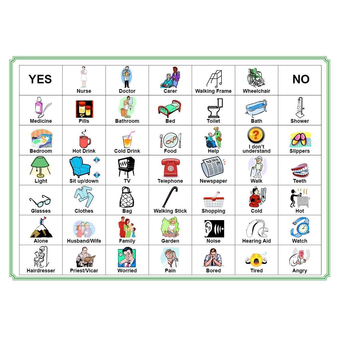 Picture of Communication Board Dementia activities, Dementia