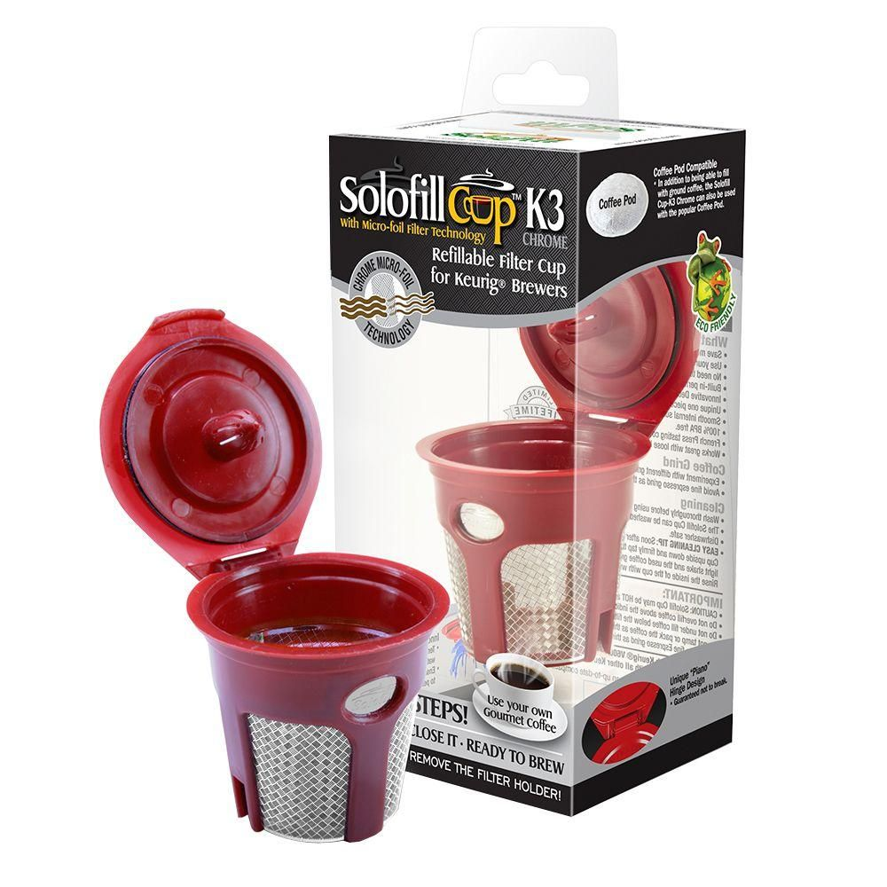 Solofill Refillable Reuseable K Cup For Keurig Brewing System
