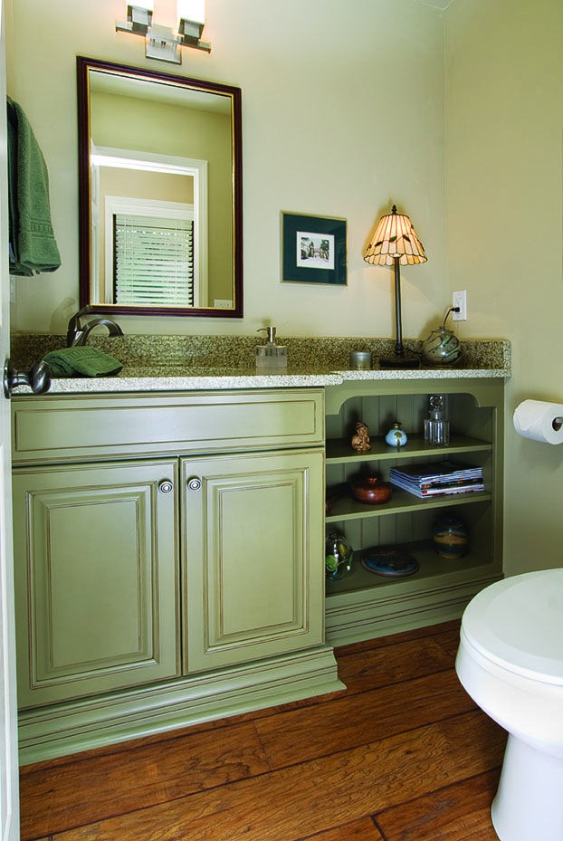 Sage Green Painted Glazed Maple Cabinet, Painted Green Maple Kitchen Cabinets