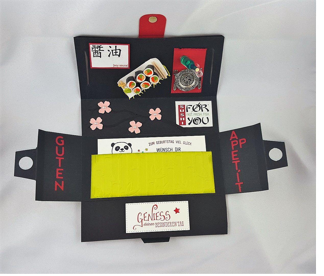 Geschenkbox Einladung Zum Sushi Essen Gutscheine Verschenken Gutschein Basteln Essen Gutscheinhalter