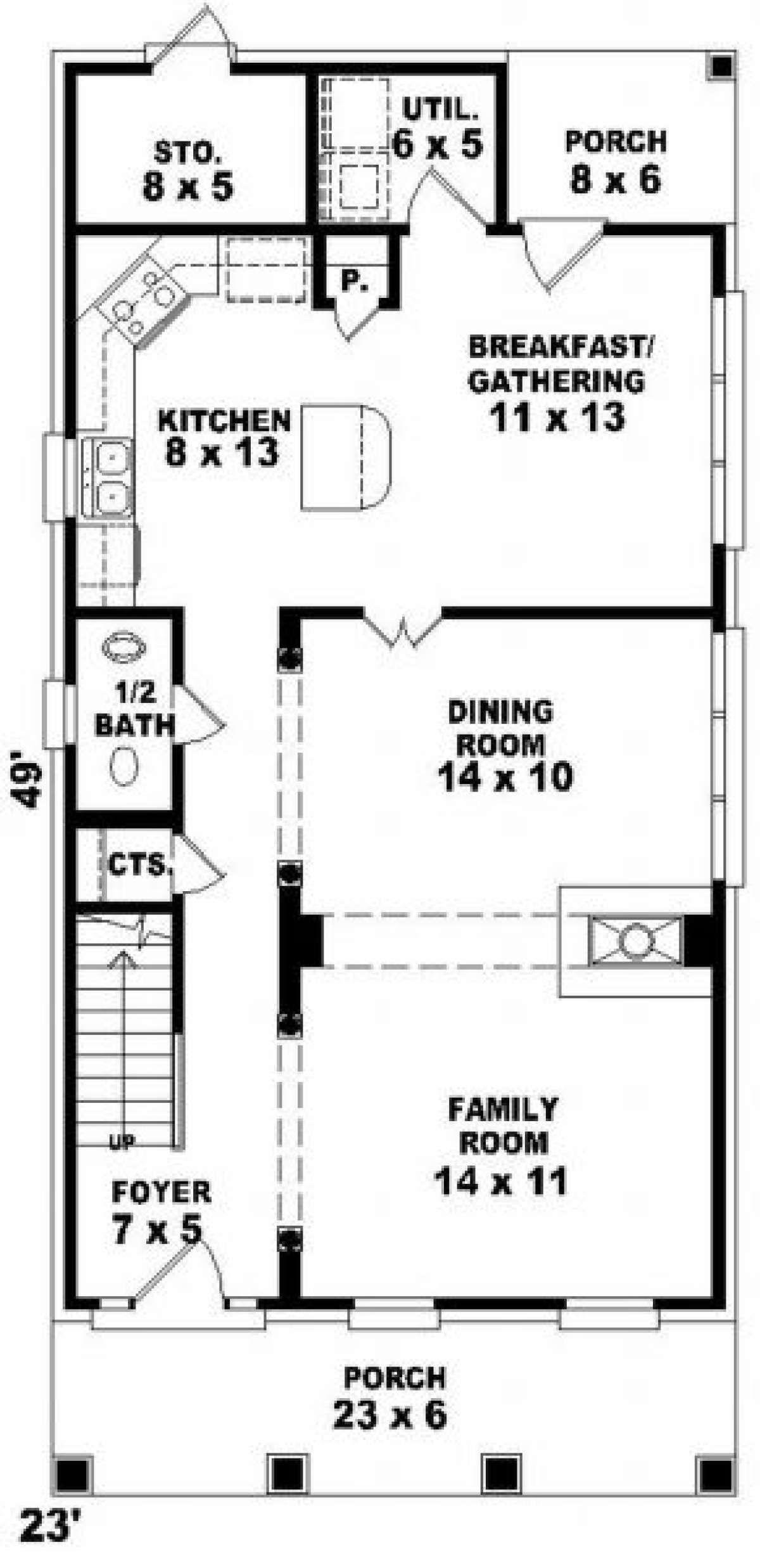 House Plan 053 00027 Narrow Lot Plan 1 824 Square Feet 3 Bedrooms 2 5 Bathrooms Narrow House Plans Narrow Lot House Plans Narrow Lot House