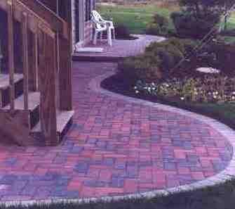 Suburban Lawn Brick Patios, Walks And Retaining Walls