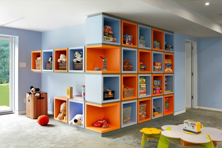 Id es en images meuble de rangement chambre enfant salle de jeux - Meuble de rangement salle de jeux ...