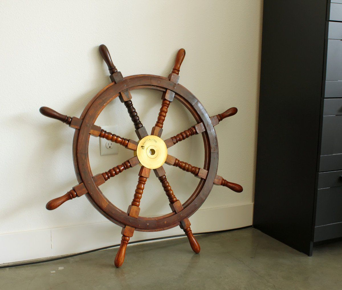 Nautical Cove Wooden Ship Wheel Pirate Decor Ships Wheel For Home Boats And Walls 36 Diameter Pirate Decor Wooden Ship Ship Wheel