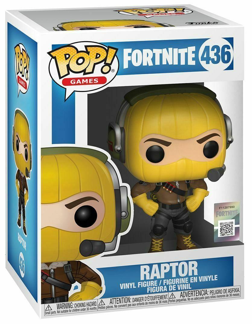 POP Vinyl Fortnite Raptor Figure Games Kids Gift Collectable