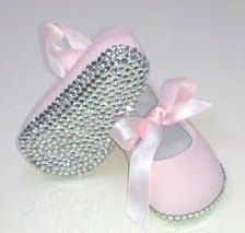 Custom Baby Bling Crib Shoes Slippers Boutique by AmberDukeDesigns, $45.00