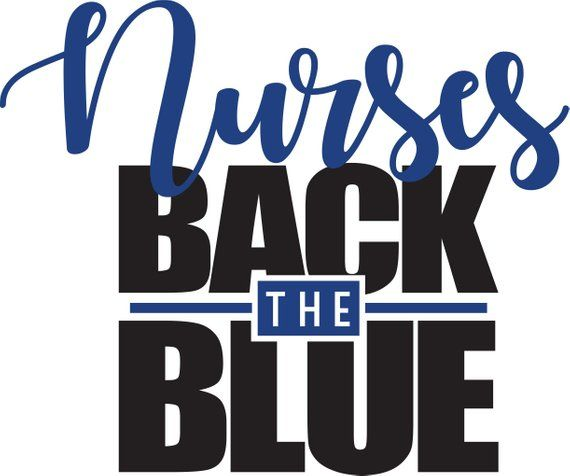 Nurses Back the Blue Shirt, Nurse Police Shirt, Back the Blue Shirt, Law Enforcement Appreciation Shirt