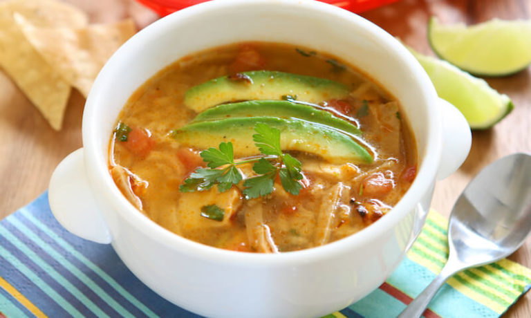 The Best Low-Carb Keto Chicken Tortilla Soup Recipe #chickentortillasoup