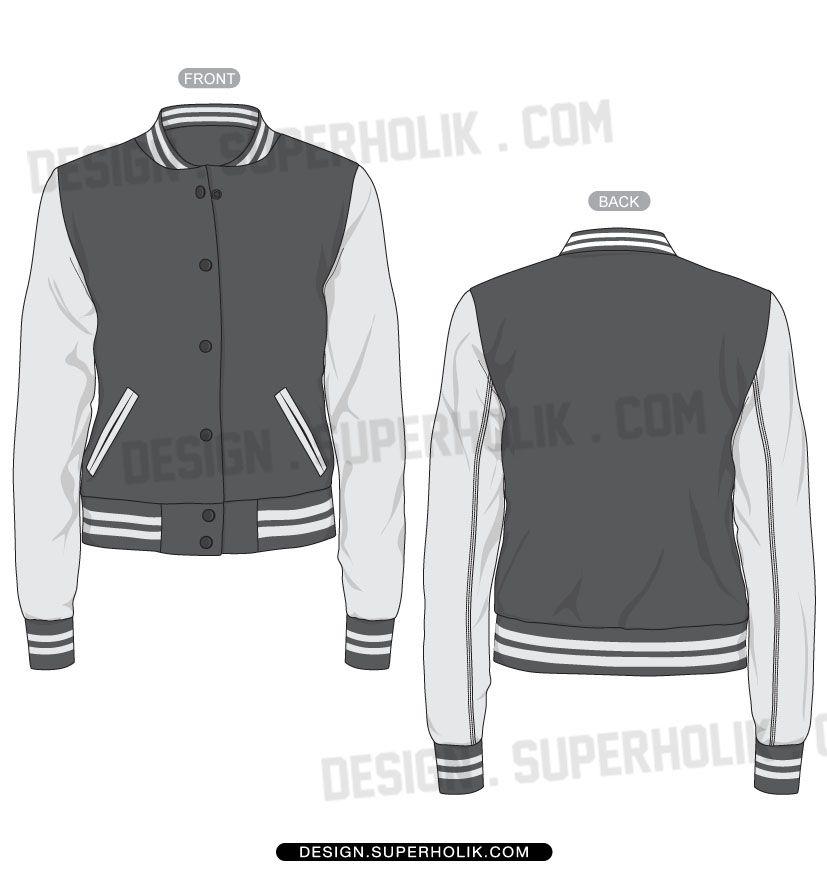 Varsity jacket template | sitilistlik cizimleri | Pinterest ...