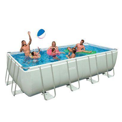 Intex Rectangular Ultra Frame Pool Set 9 X18 X52 800 Rectangular Pool Rectangular Swimming Pools Above Ground Pool Pumps