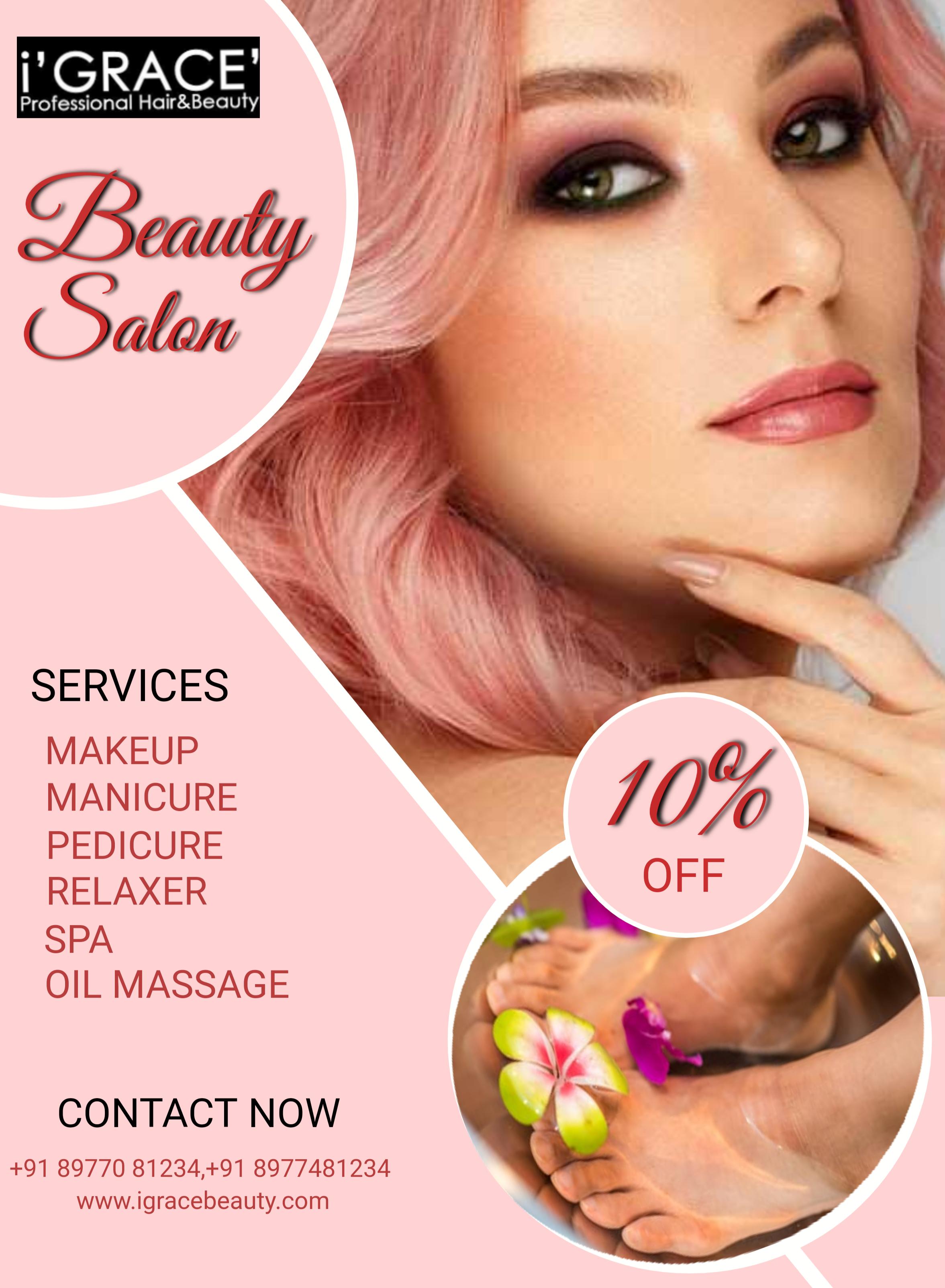 Beauty Parlour In Visakhapatnam Beauty Salon Posters Makeup Services Makeup Course