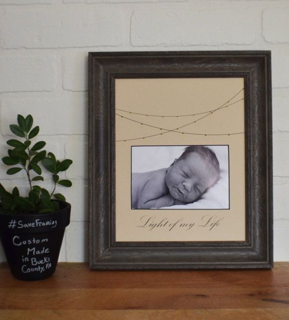Personalized Custom Cut Picture Frame Mat Light Of By Theframefarm