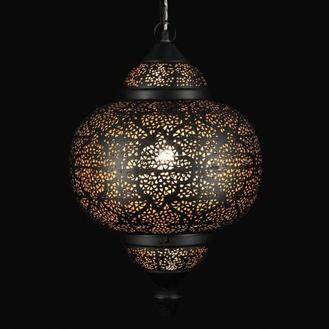 Lampe suspendue en métal motif oriental artemano · asian pendant lightingmetal