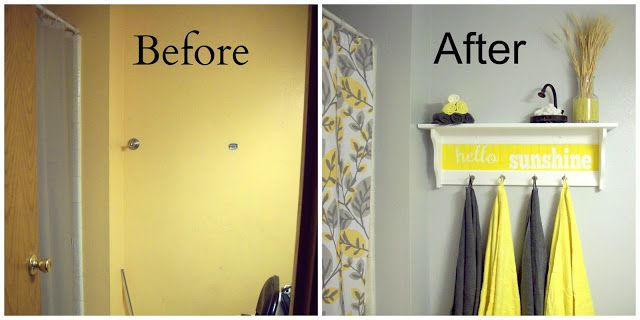 Bathroom Makeover Food Crafts And Family Yellow Bathroom Decor