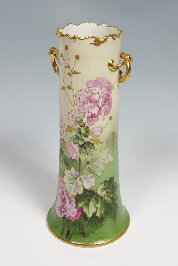 Wm Guerin French Limoges Vase 15 Tall On Antiques Antiques