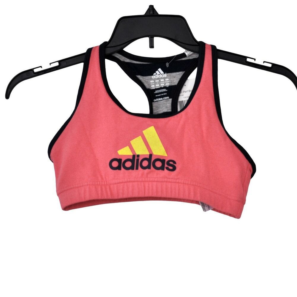 Adidas ClimaLite Cotton Signature Pink Sports Bra Women's