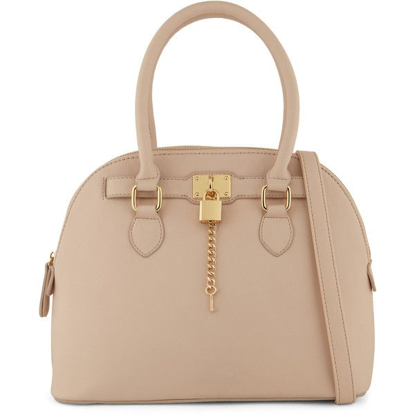 Aldo Frattapolesine 50 Liked On Polyvore Featuring Bags Handbags Purses Light Pink Beige Bag Zip Satchel Handbag And
