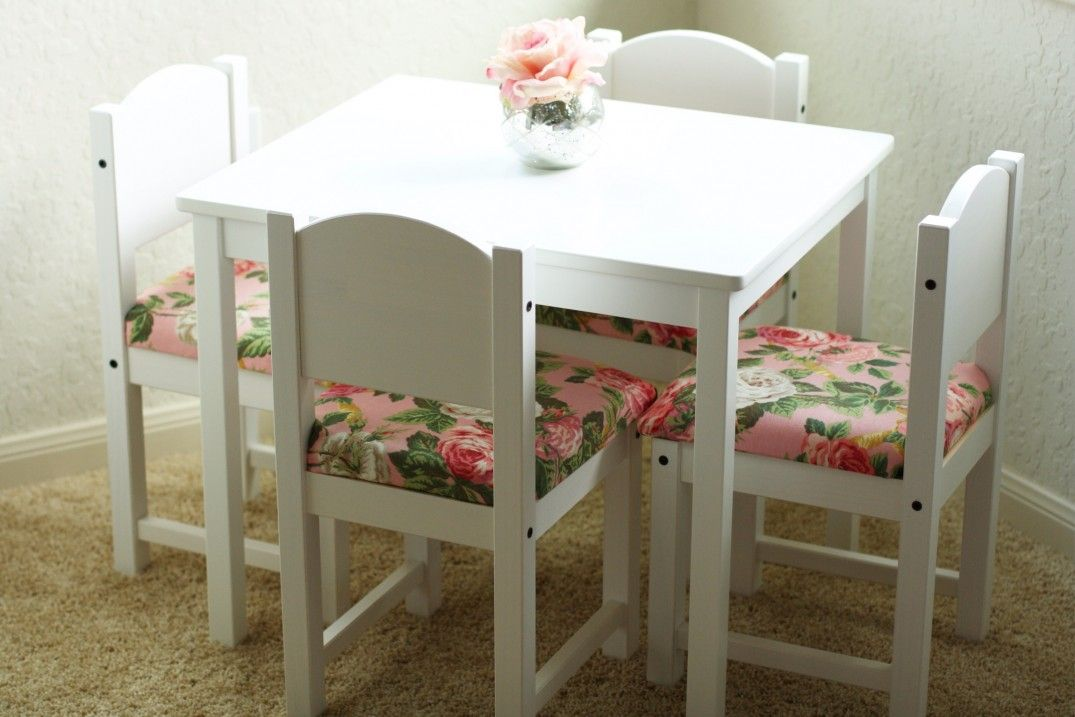 Diy Fancied Up Kids Table And Chairs Ikea Hack Diy Kids Table