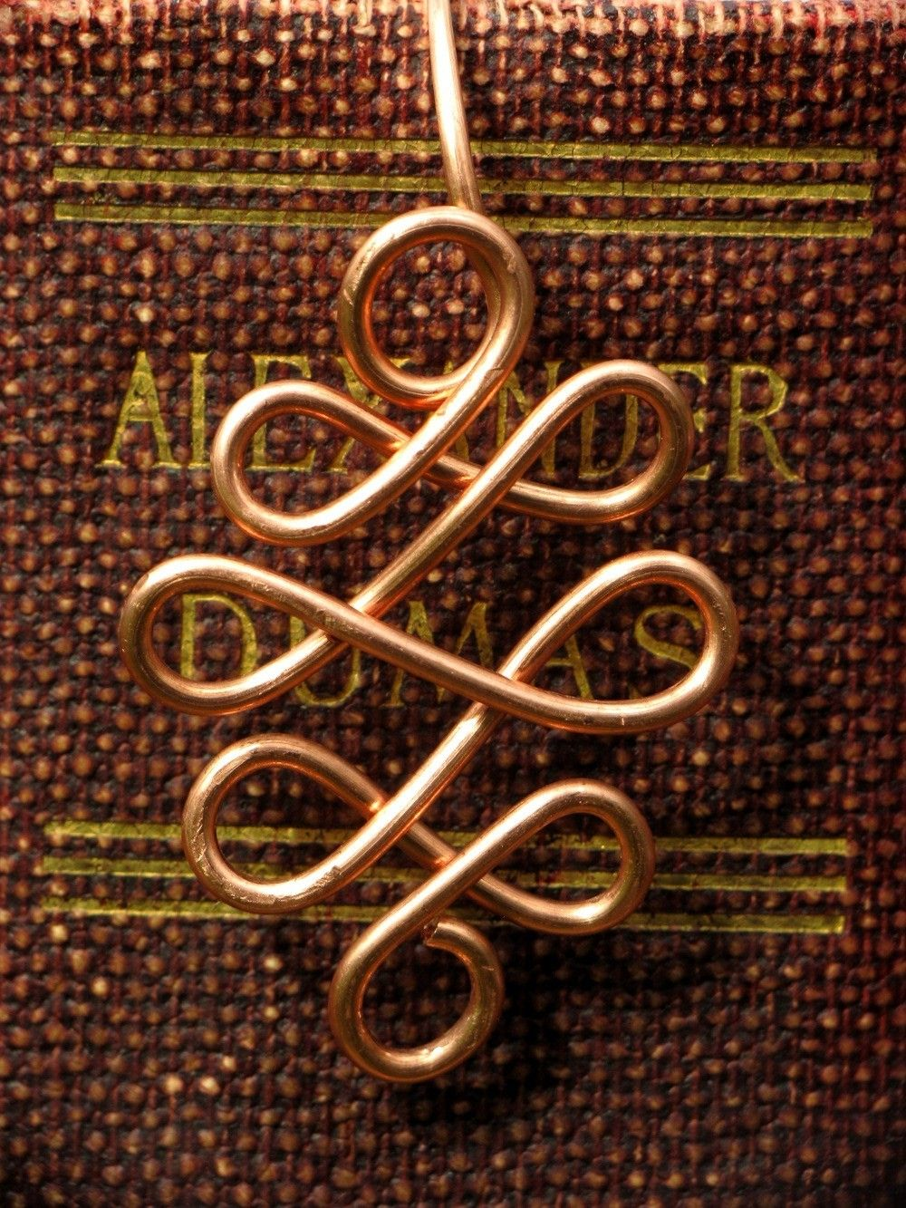 Celtic Scrollwork Bookmark - Handmade from Copper, Copper Bookmark, Metal Bookmark. $10.00, via Etsy.