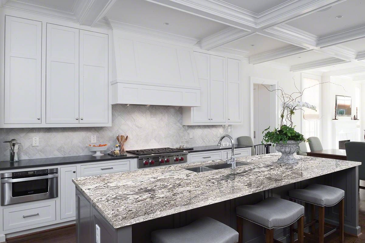 Whisper White Granite Kitchen In 2019 White Granite