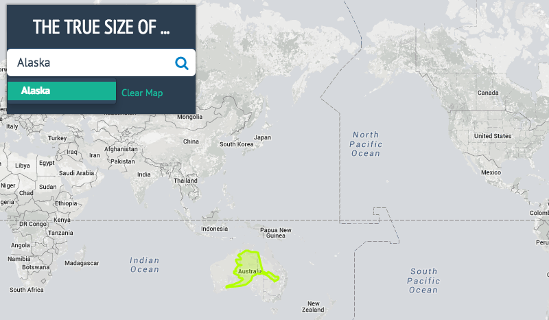 The true size shows you how big countries and states really are interactive map gumiabroncs Choice Image