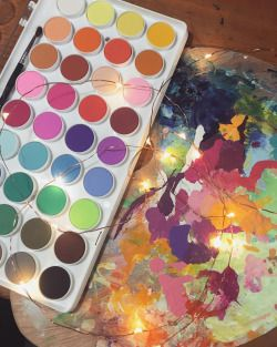 New watercolor palette! Yey! 🎨