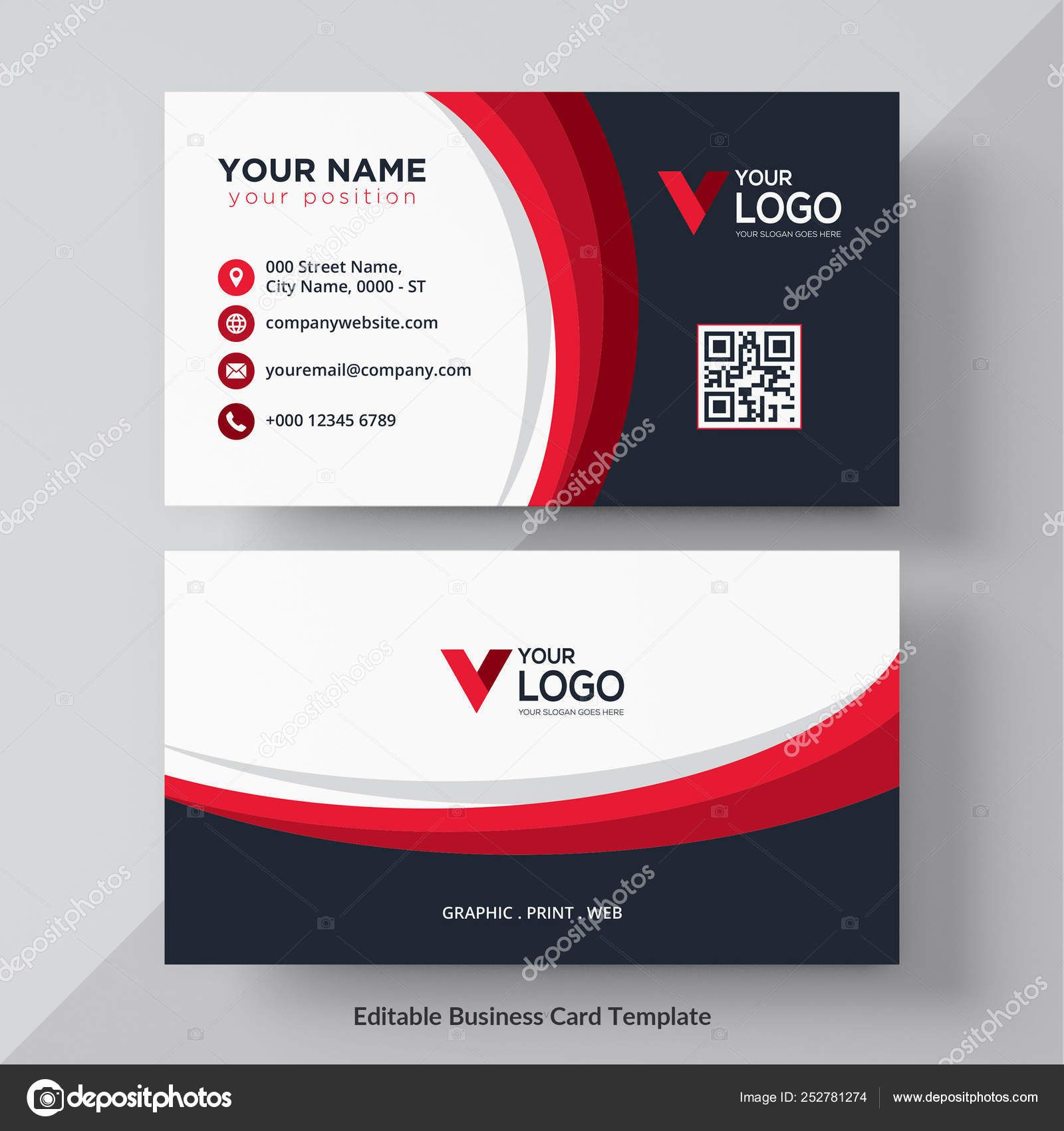 Download Modern Creative Business Card Name Card Horizontal