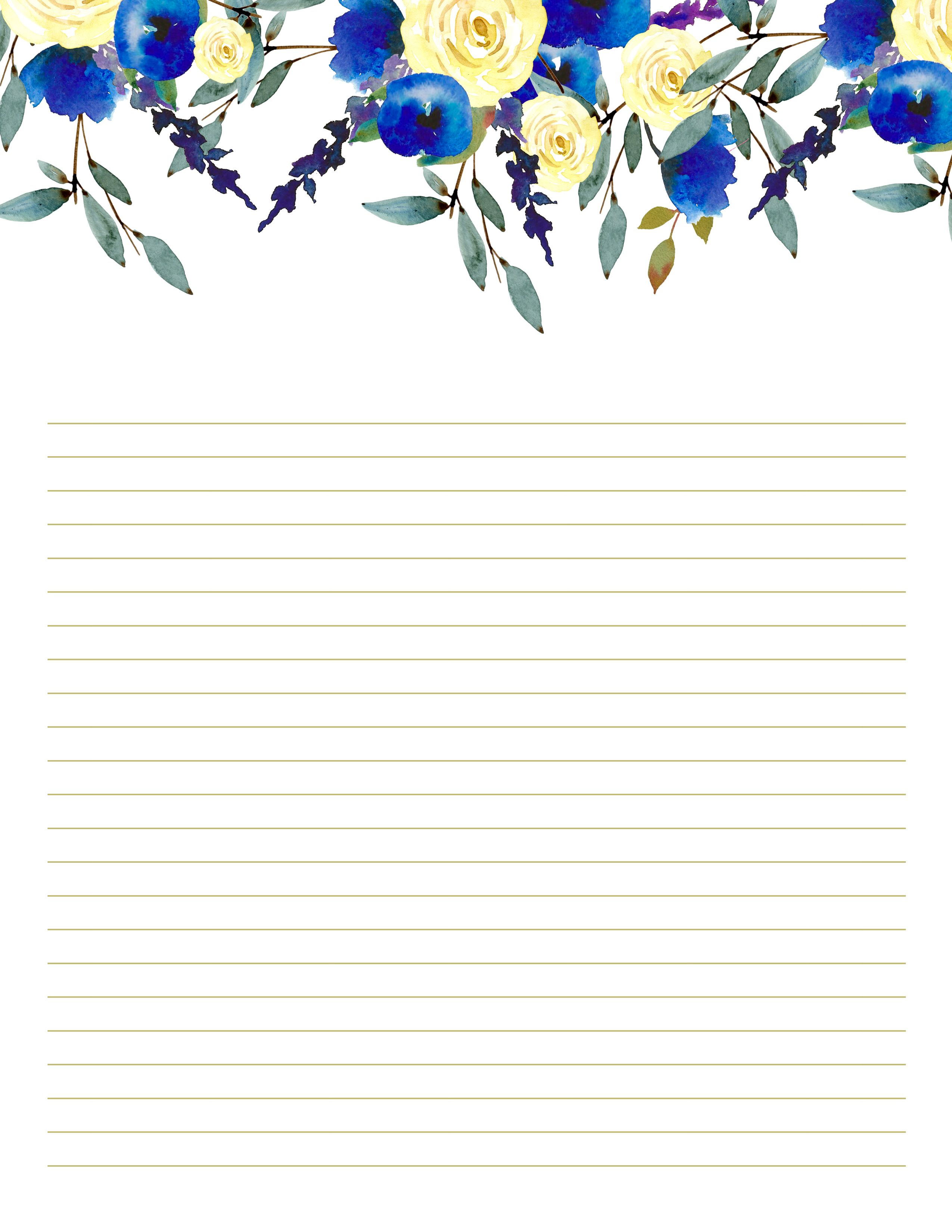 Stationery Printables Writing Paper Printable Stationery Writing Paper Printable Floral Stationary Letter writing paper free printable