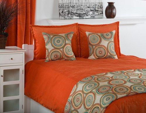 Orange Yellow And Teal Bedroom Crete Pumpkin Orange And