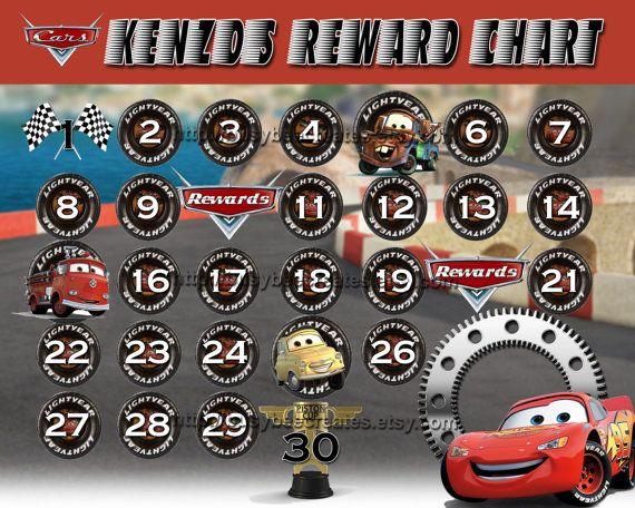 personalized disney cars reward chart digital by