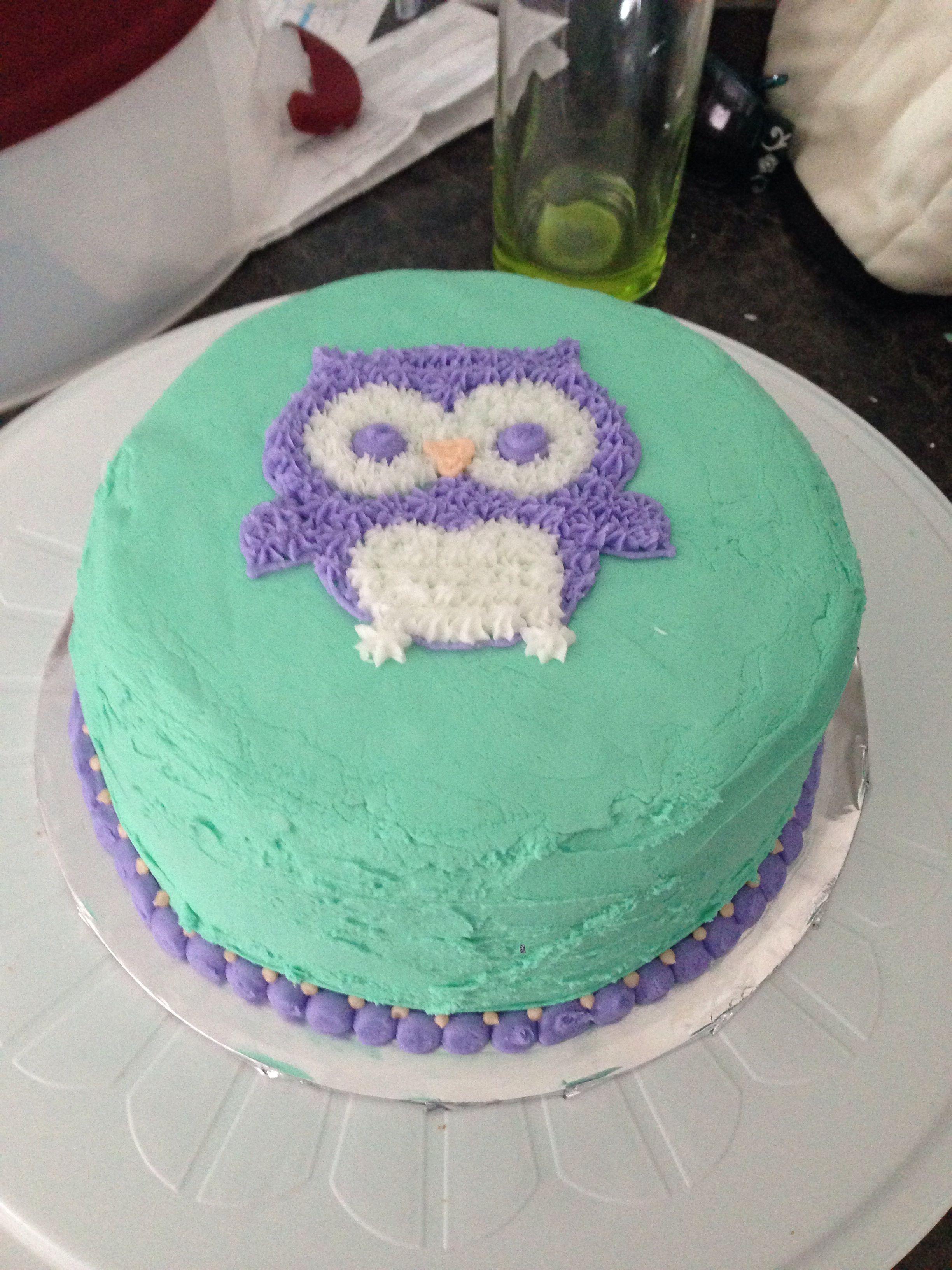 Wilton Course 1 Lesson 2 Owl Cake